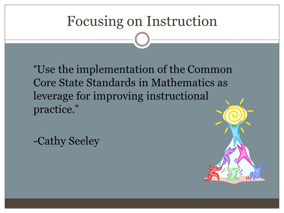 Focusing on Instruction