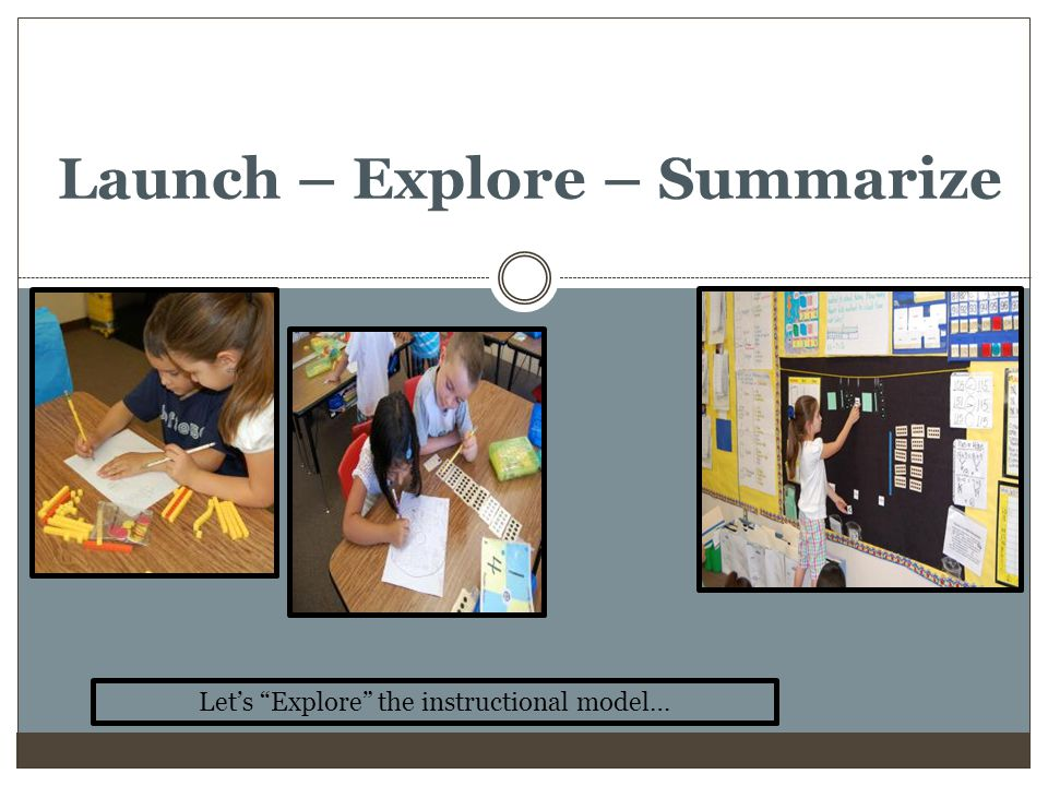 Launch – Explore – Summarize
