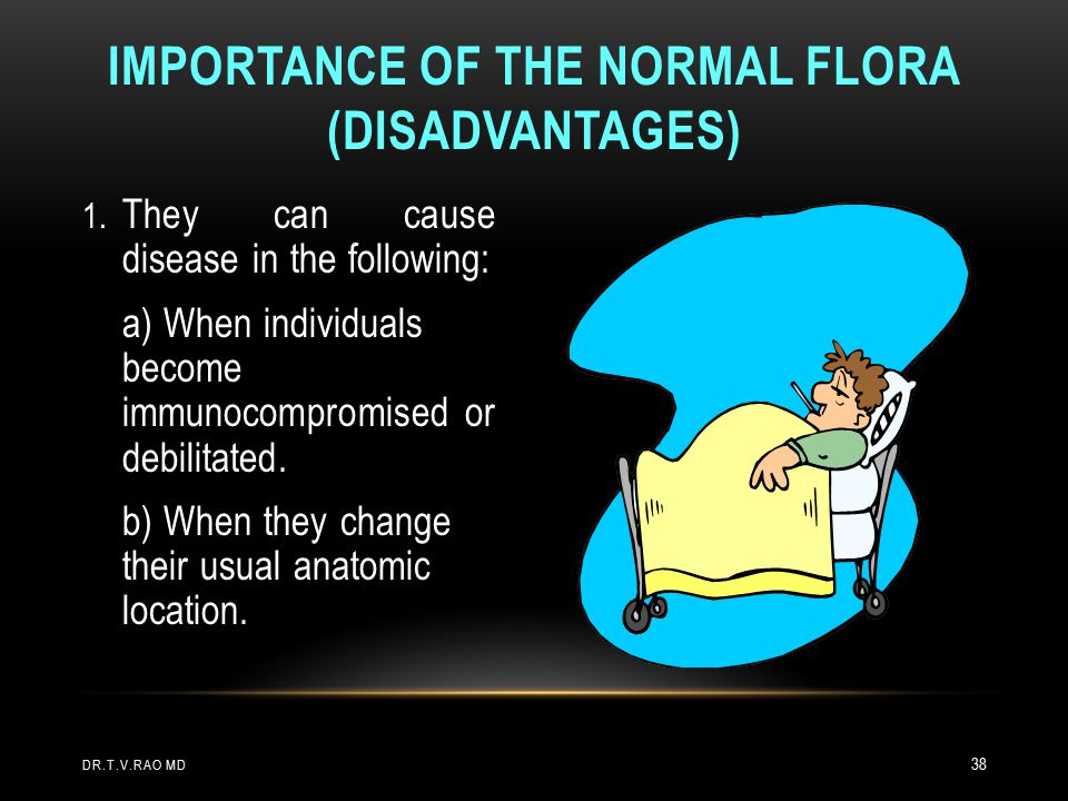 Importance of The Normal Flora (Disadvantages)