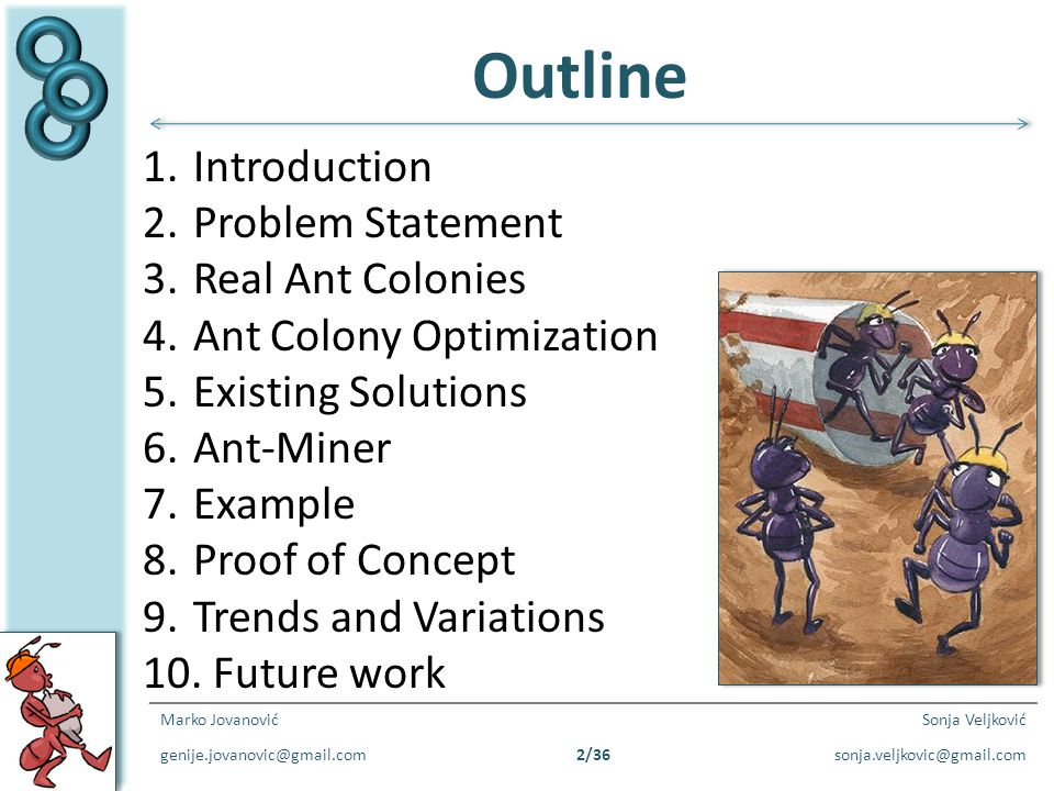 Outline Introduction Problem Statement Real Ant Colonies