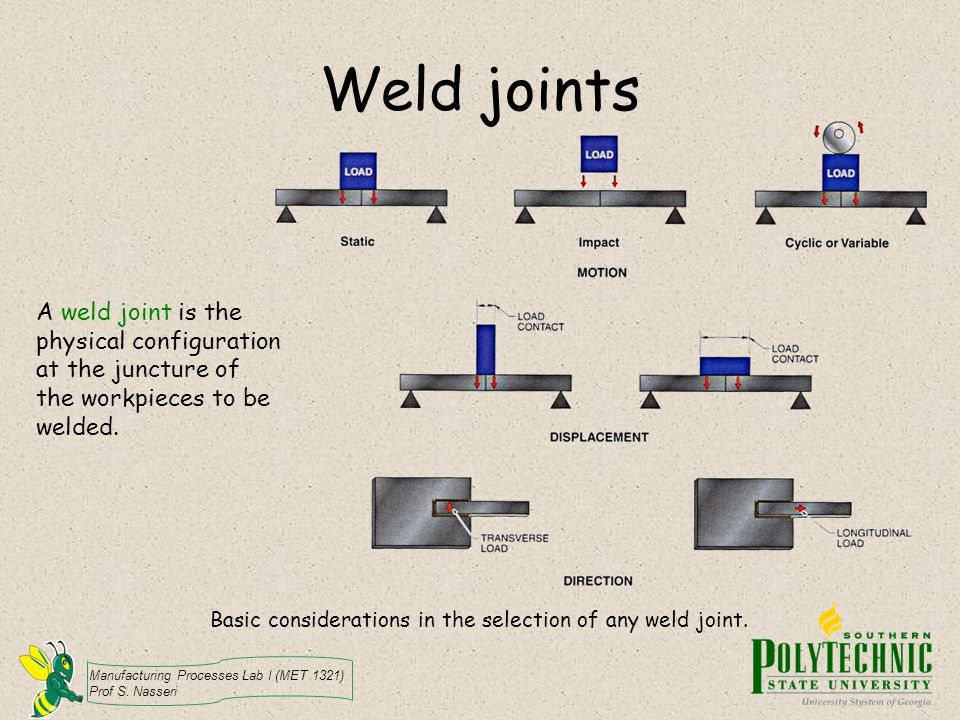 Weld joints A weld joint is the physical configuration at the juncture of the workpieces to be welded.