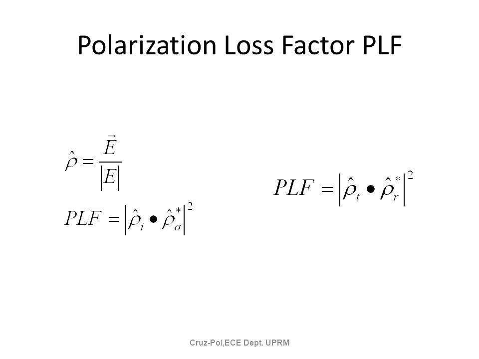 Polarization Loss Factor PLF