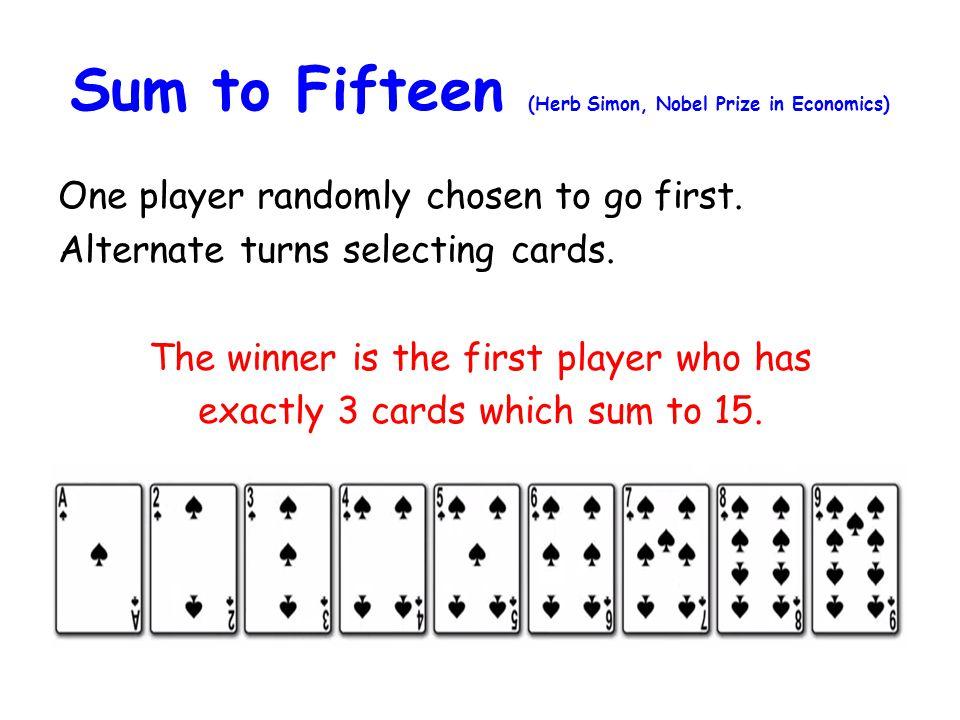 Sum to Fifteen (Herb Simon, Nobel Prize in Economics)