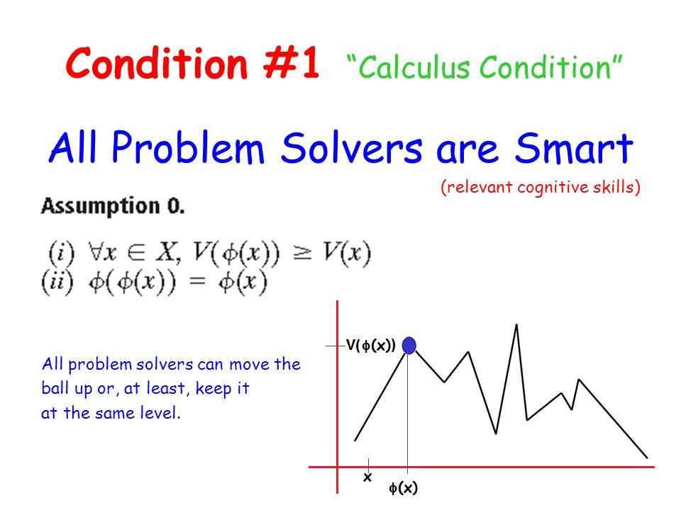Condition #1 Calculus Condition