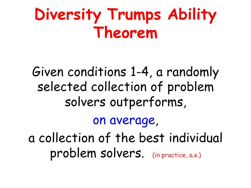 Diversity Trumps Ability Theorem