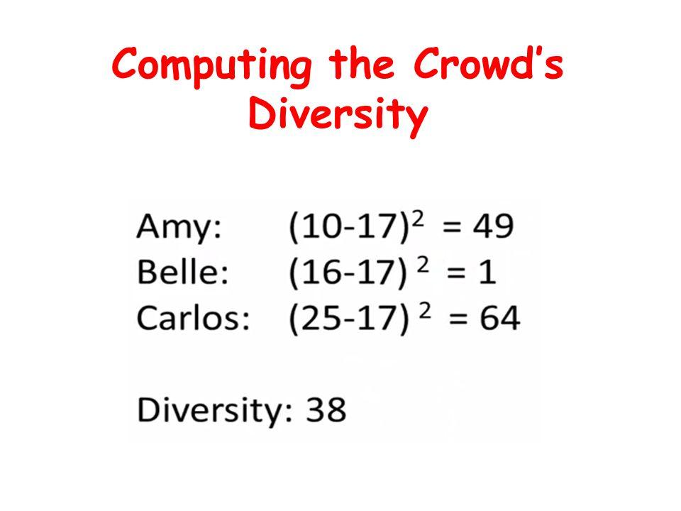 Computing the Crowd's Diversity