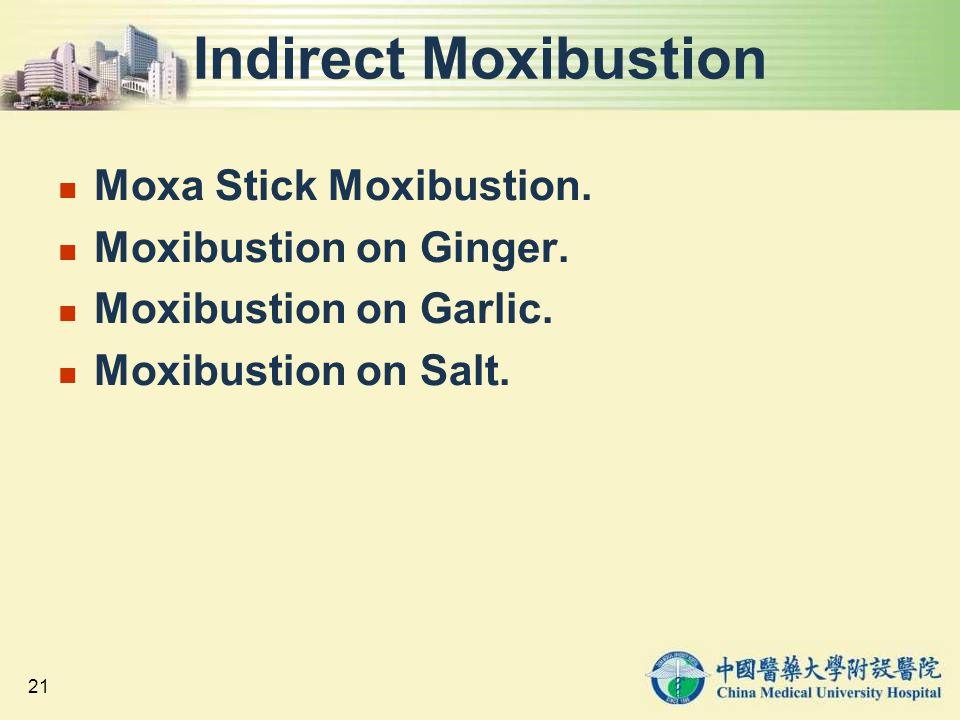 Indirect Moxibustion Moxa Stick Moxibustion. Moxibustion on Ginger.