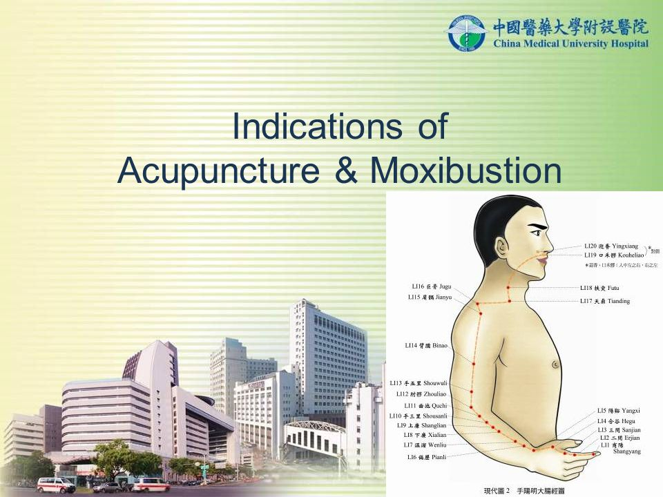 Indications of Acupuncture & Moxibustion