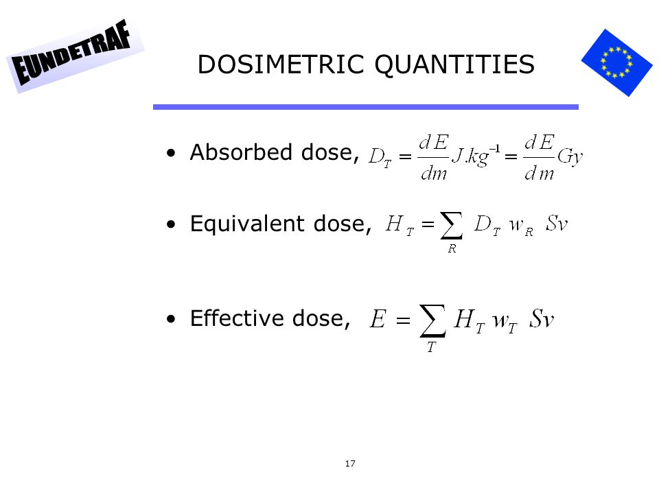 DOSIMETRIC QUANTITIES