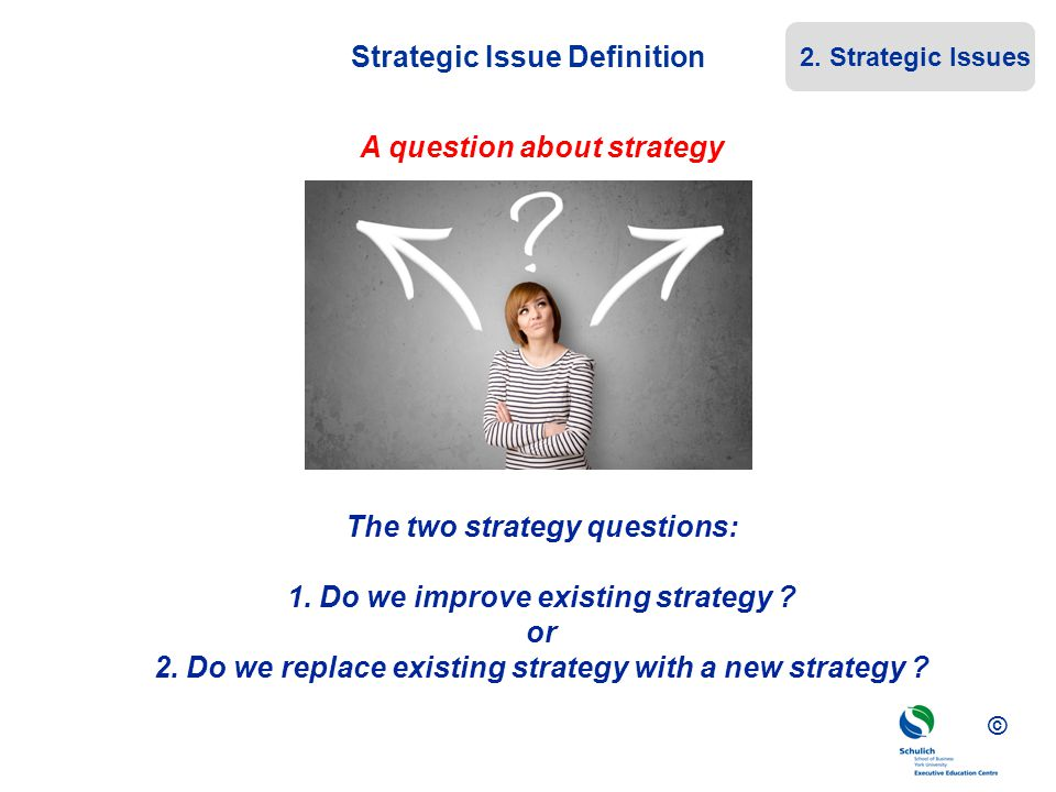 Strategic Issue Definition