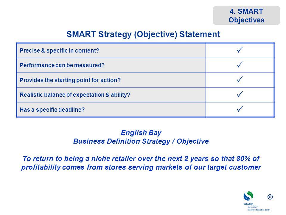 SMART Strategy (Objective) Statement