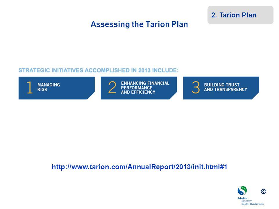 Assessing the Tarion Plan
