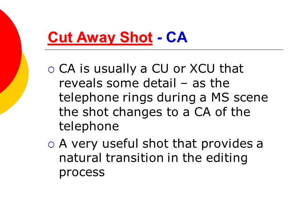 Cut Away Shot - CA