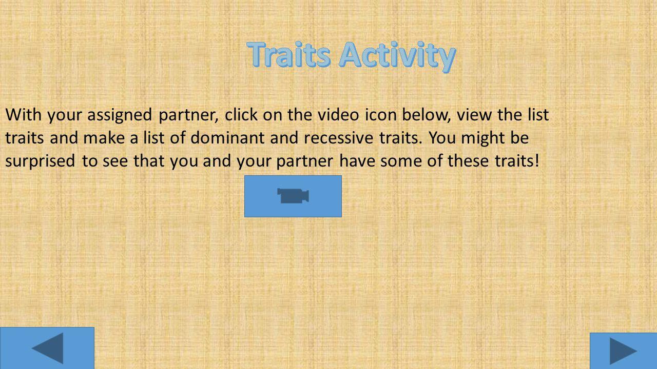 Traits Activity