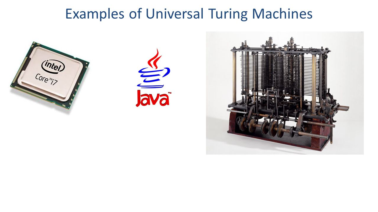 Examples of Universal Turing Machines