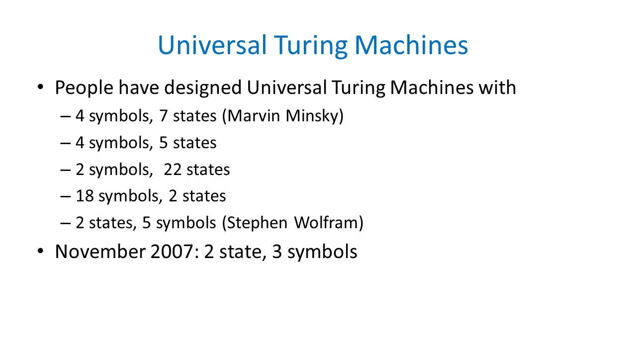 Universal Turing Machines