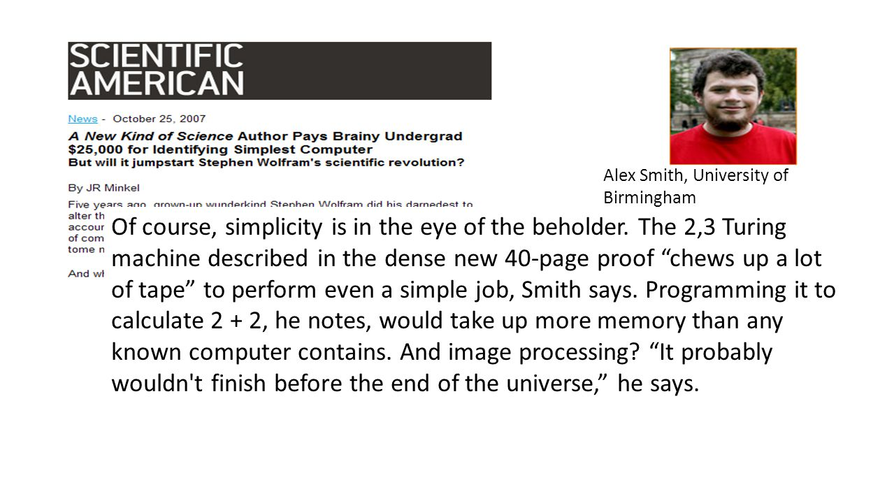 Alex Smith, University of Birmingham