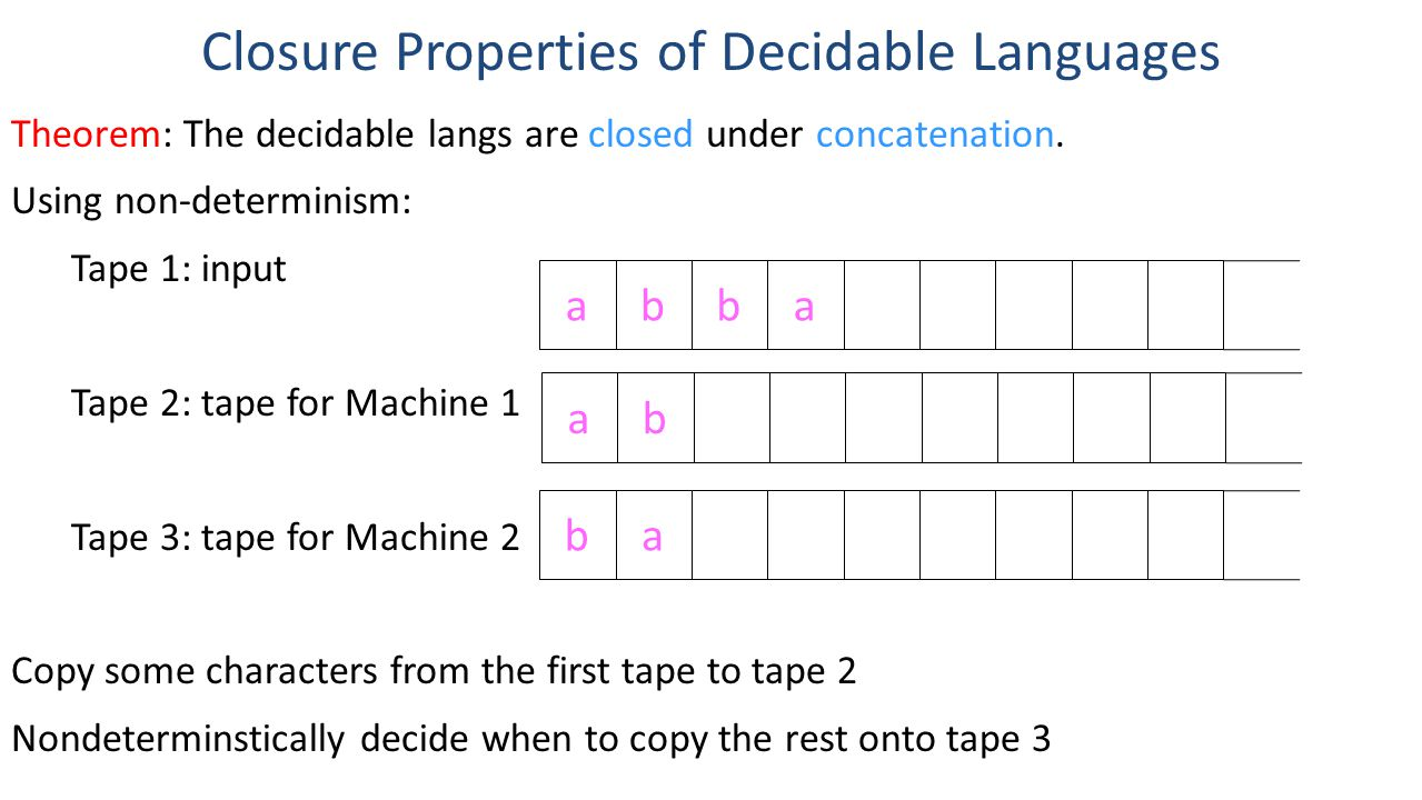 Closure Properties of Decidable Languages