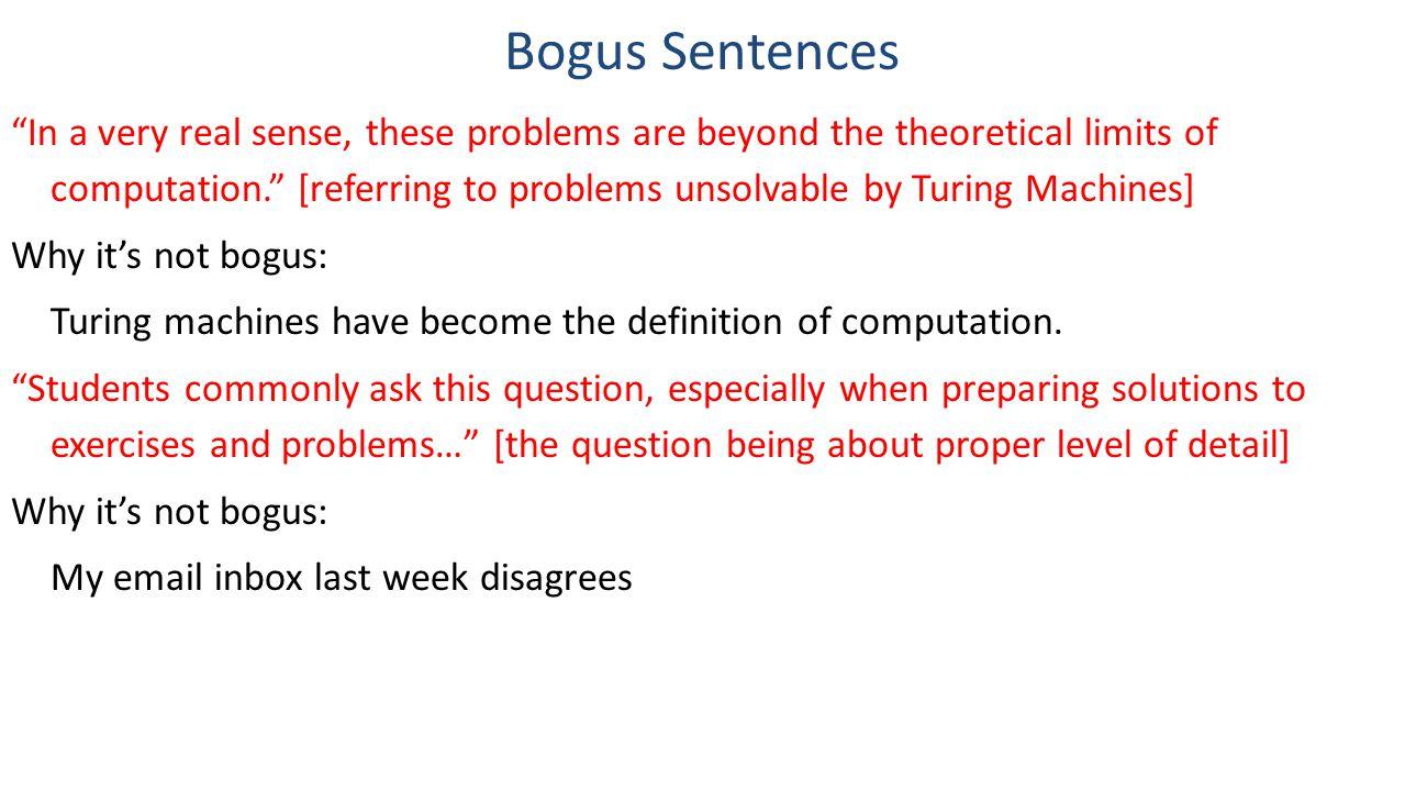 Bogus Sentences