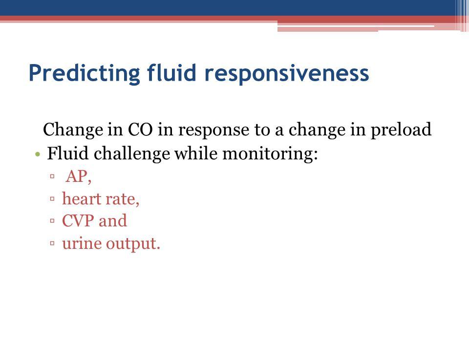 Predicting fluid responsiveness