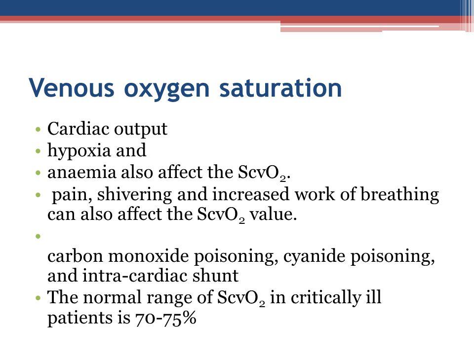 Venous oxygen saturation