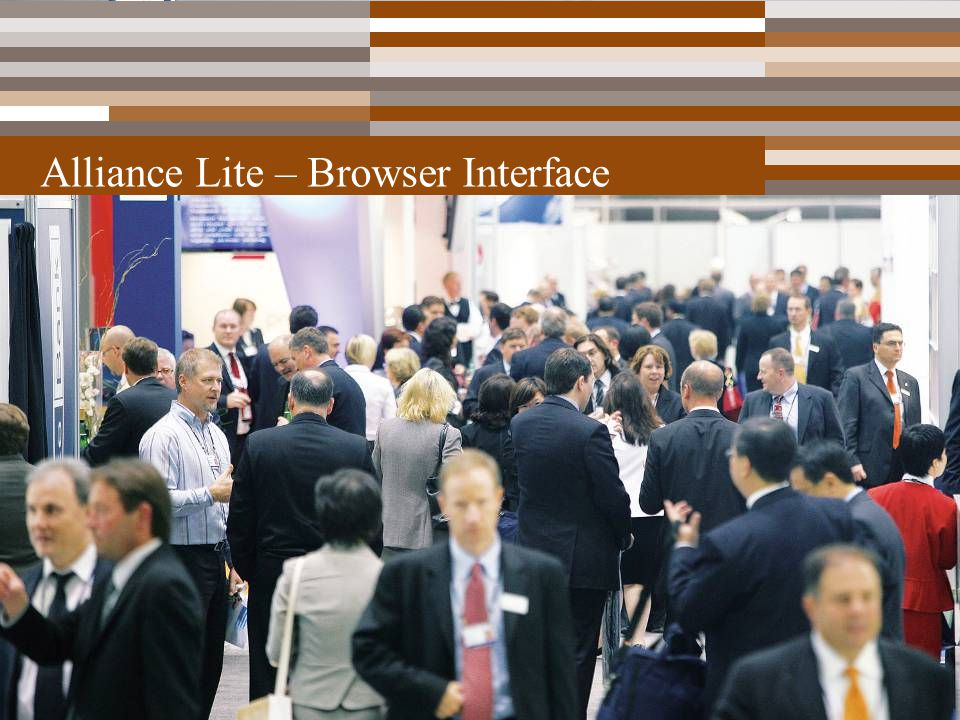 Alliance Lite – Browser Interface