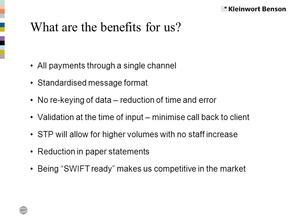 What are the benefits for us