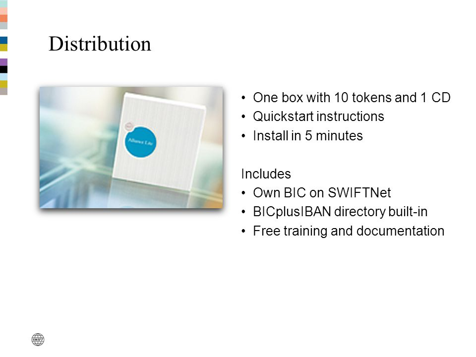 Distribution One box with 10 tokens and 1 CD Quickstart instructions