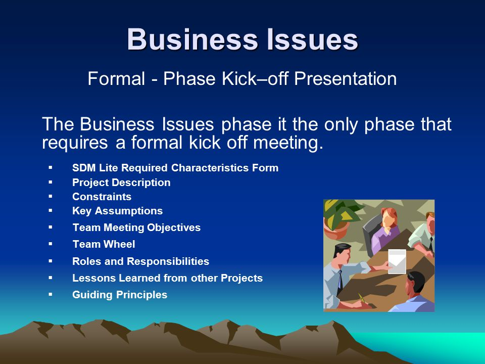 Formal - Phase Kick–off Presentation