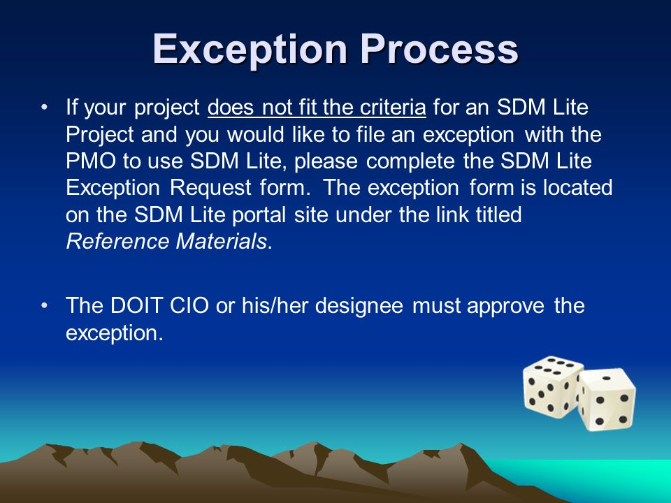 Exception Process