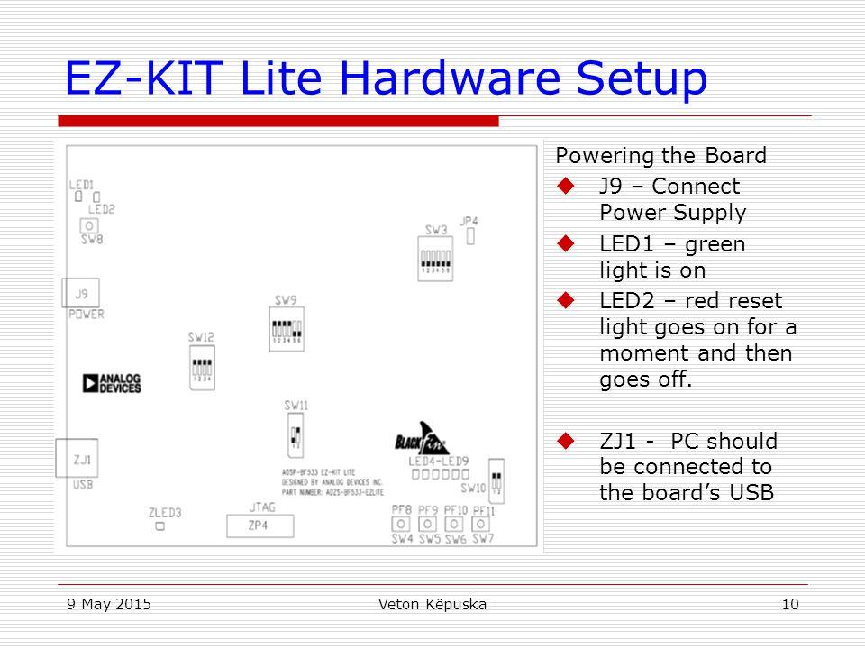 EZ-KIT Lite Hardware Setup