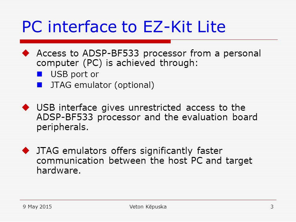 PC interface to EZ-Kit Lite