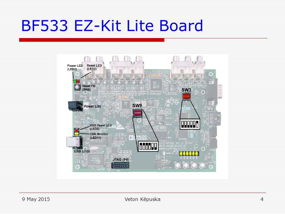 BF533 EZ-Kit Lite Board 15 April 2017 Veton Këpuska