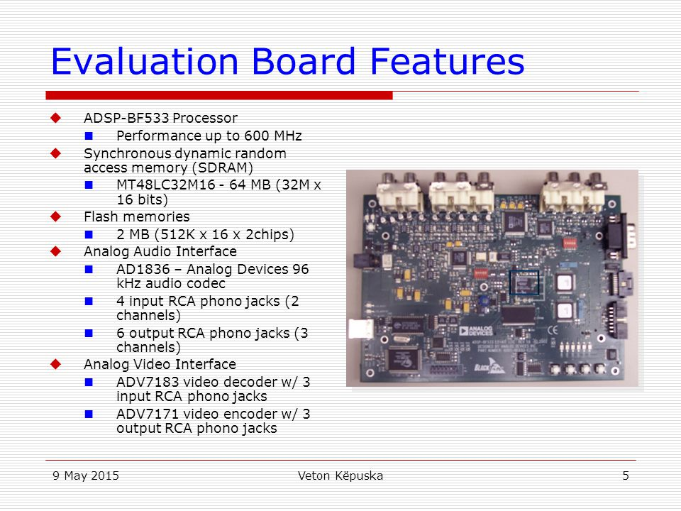Evaluation Board Features