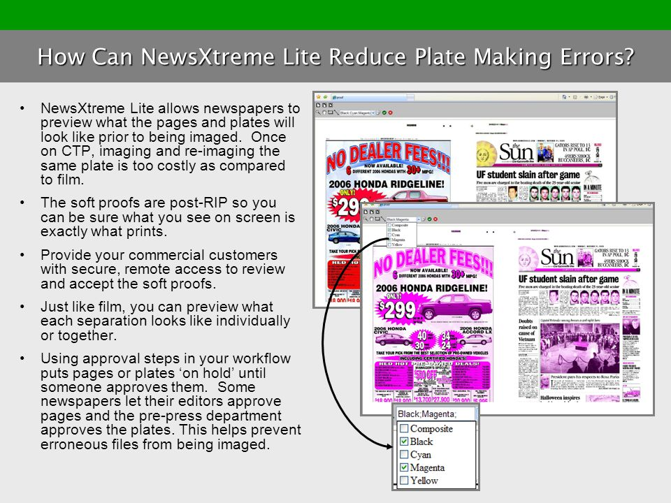 How Can NewsXtreme Lite Reduce Plate Making Errors