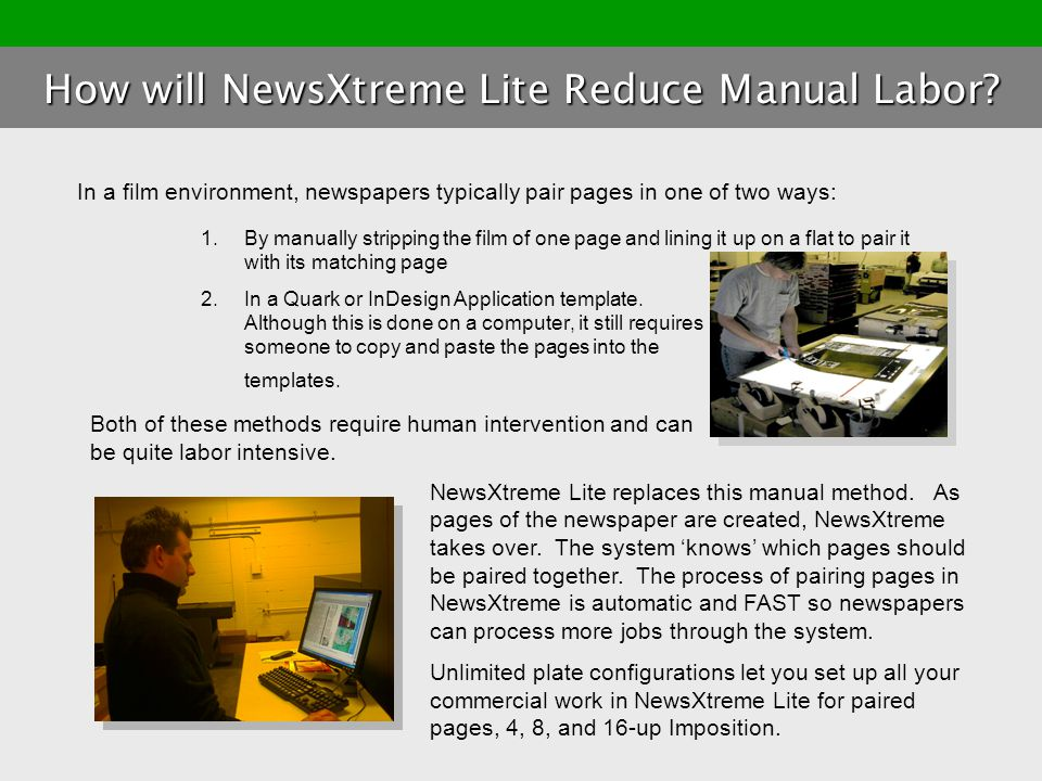 How will NewsXtreme Lite Reduce Manual Labor