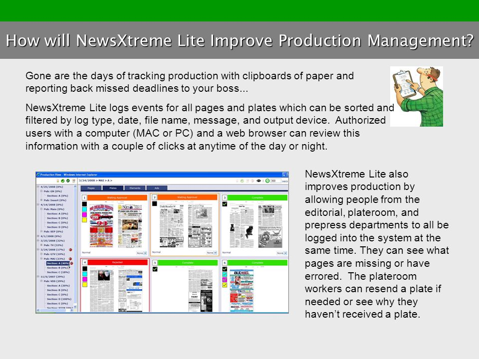 How will NewsXtreme Lite Improve Production Management