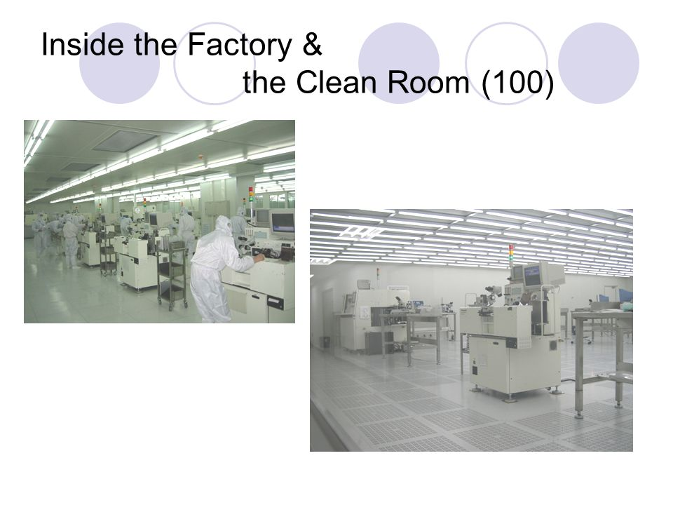 Inside the Factory & the Clean Room (100)