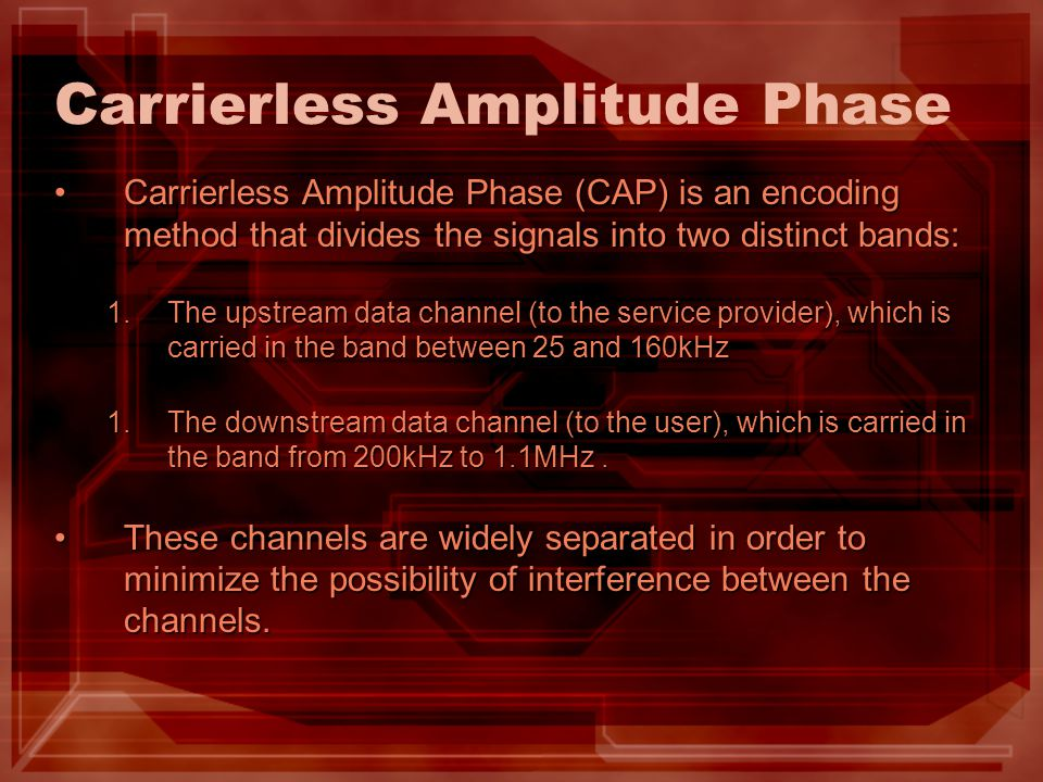 Carrierless Amplitude Phase