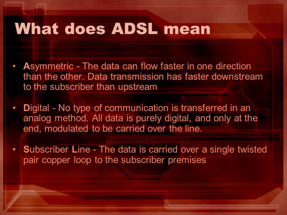 What does ADSL mean