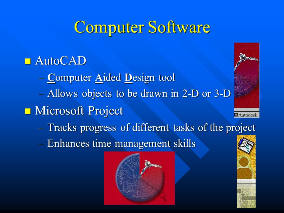 Computer Software AutoCAD Microsoft Project Computer Aided Design tool