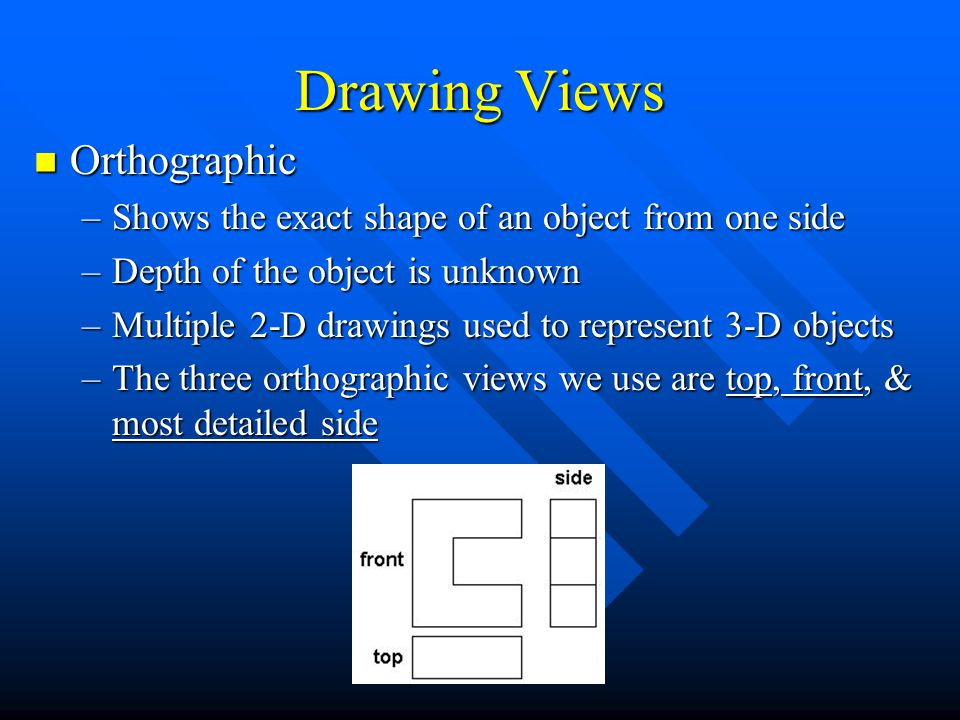 Drawing Views Orthographic