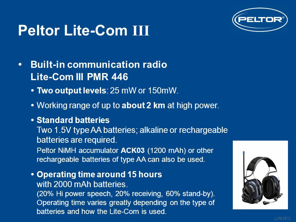 Peltor Lite-Com III Built-in communication radio Lite-Com III PMR 446