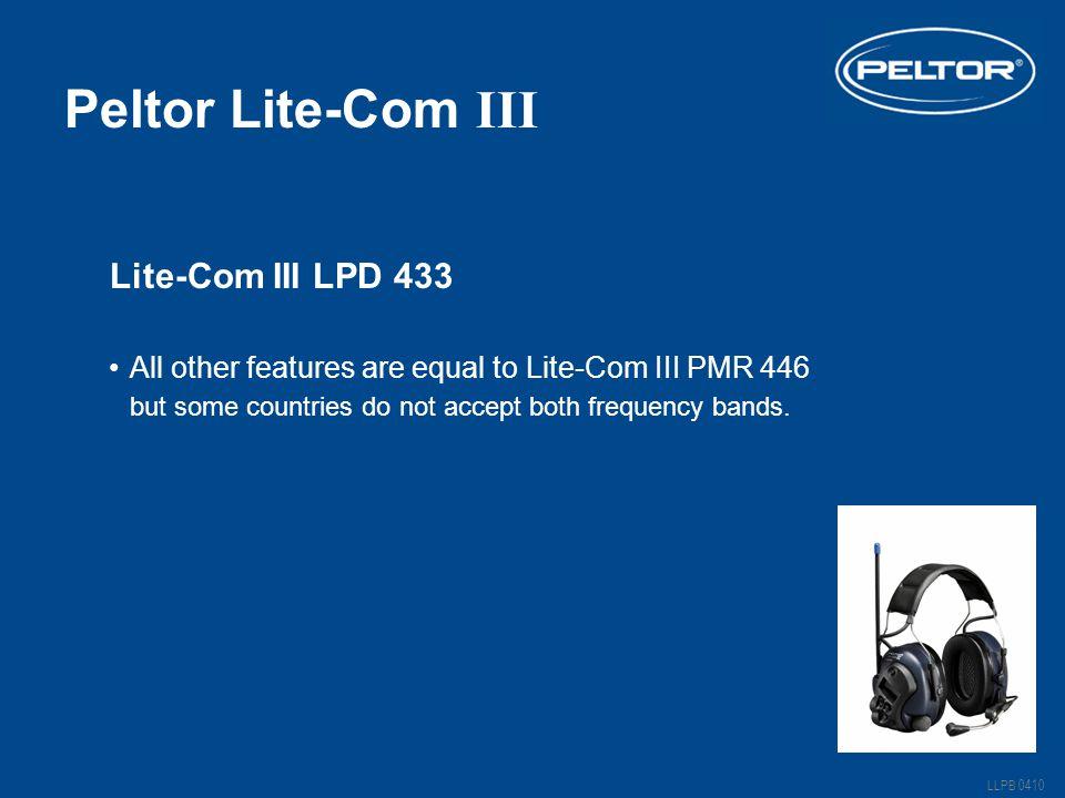 Peltor Lite-Com III Lite-Com III LPD 433