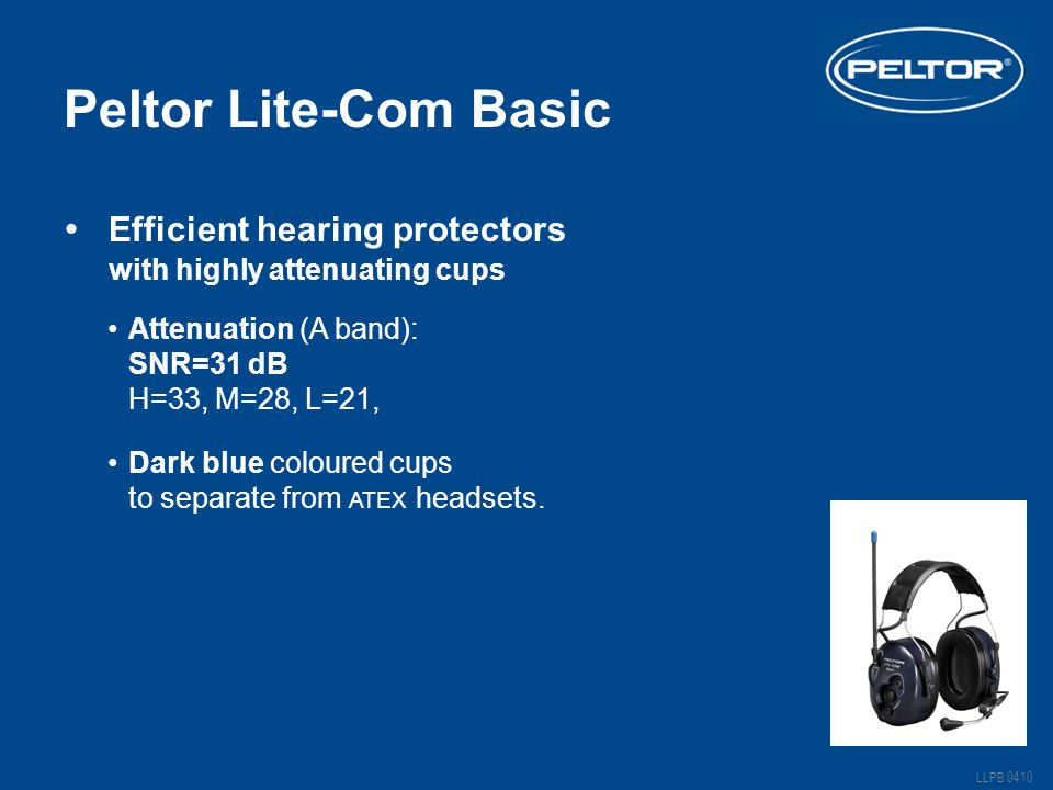 Peltor Lite-Com Basic Efficient hearing protectors .