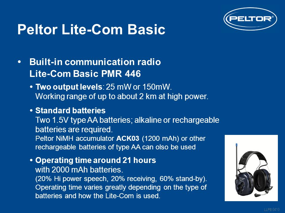 Peltor Lite-Com Basic Built-in communication radio
