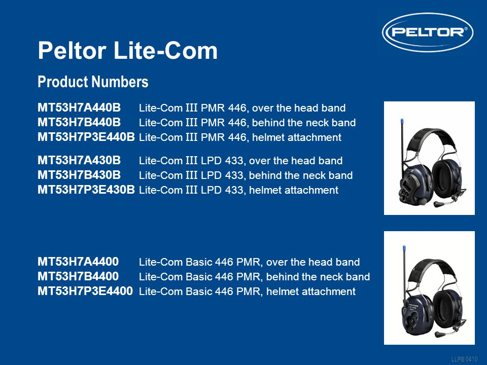 Peltor Lite-Com Product Numbers