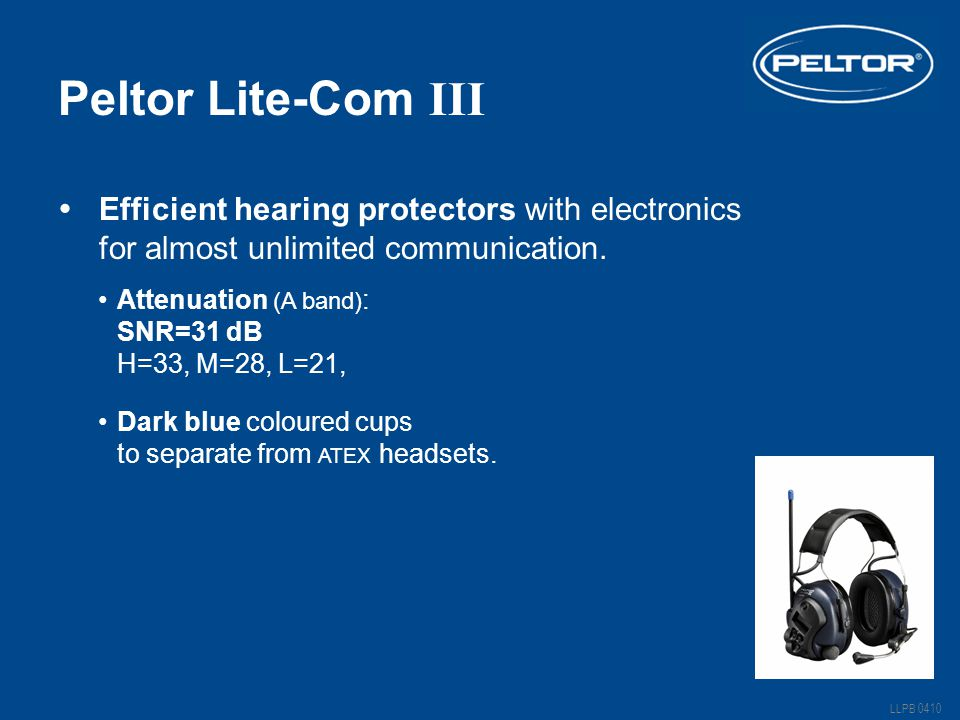 Peltor Lite-Com III Efficient hearing protectors with electronics for almost unlimited communication.