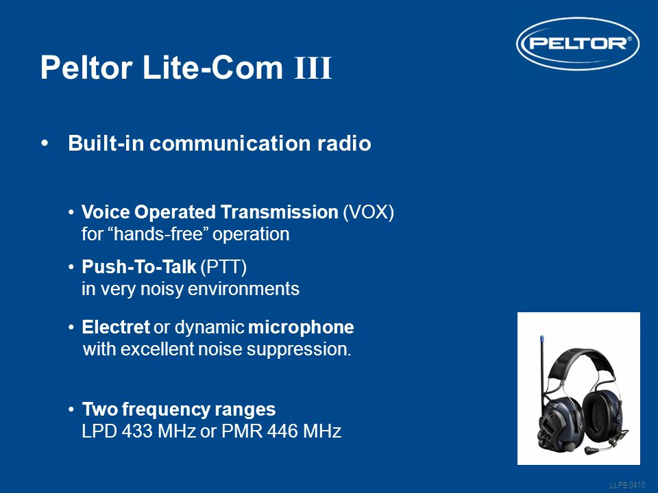 Peltor Lite-Com III Built-in communication radio