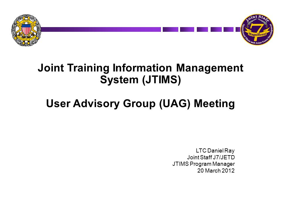 Joint Training Information Management System (JTIMS)